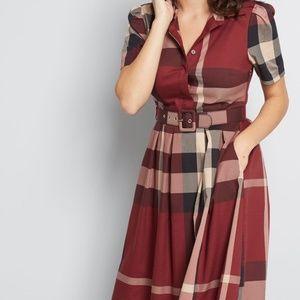 NWT Modcloth Short Sleeve Vintage Dress XS